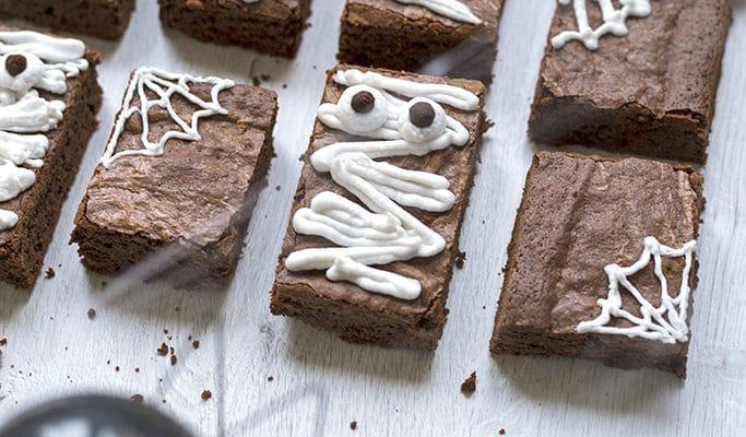 Brownie sin gluten de Halloween